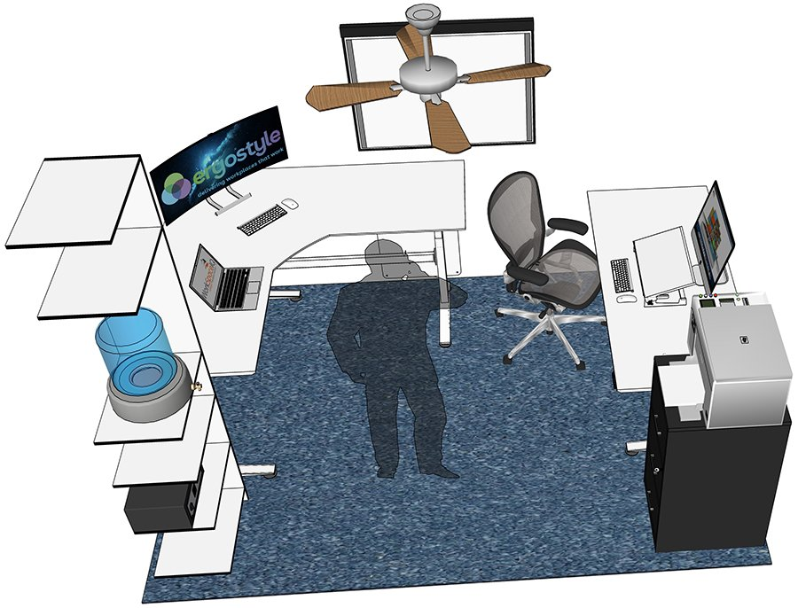 Office 3D Render